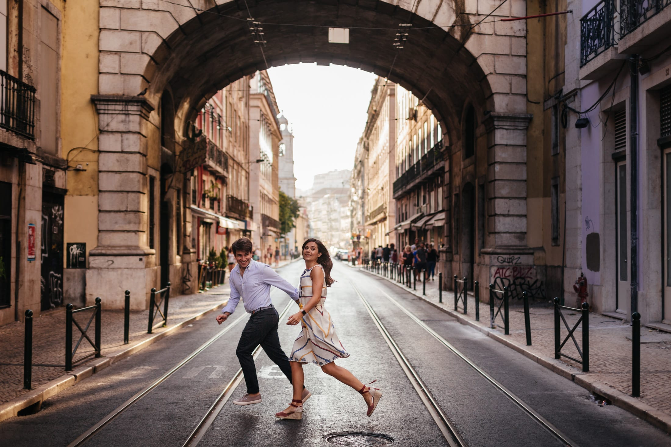 Terri and Afonso: Engagement Photoshoot in Lisbon